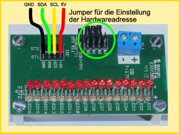 Ultraschall Entfernungsmesser I2c : Led treiber tlc59116 bascom arduino mikrocontroller